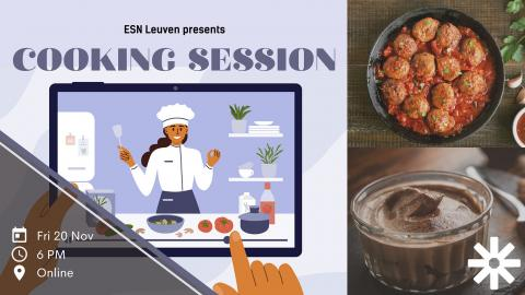 ESN leuven cooking session online events