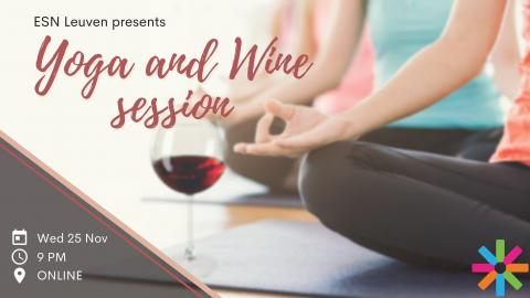 wine, yoga, session, esn, leuven, event, erasmus,